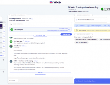 Rake Live Chat and Messaging